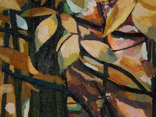 The Colored Forest in Maine (Detail), 140 x 260 cm, oil on canvas.