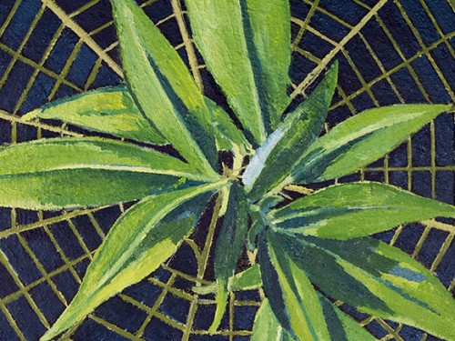 Sprout Growing (Detail), oil on canvas,  70 x 120 cm